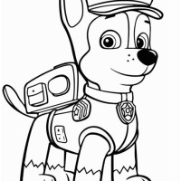Malvorlage Paw Patrol Chase Coloring And Malvorlagan